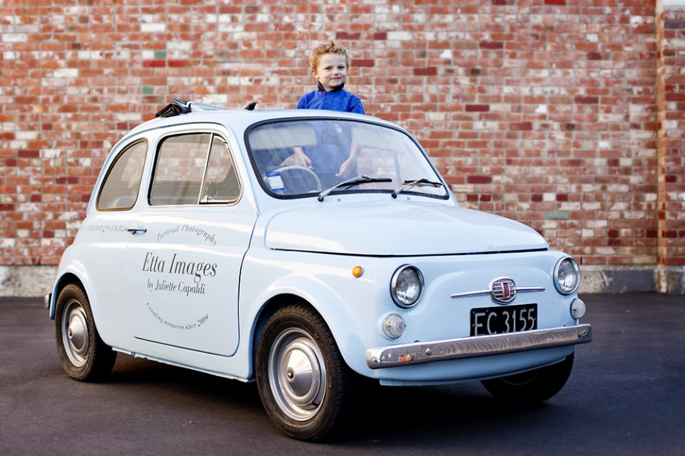 Bambina Fiat 500 1966 Family Portraits Christchurch